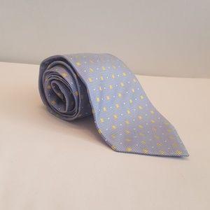 Escada Silk Tie, blue and yellow